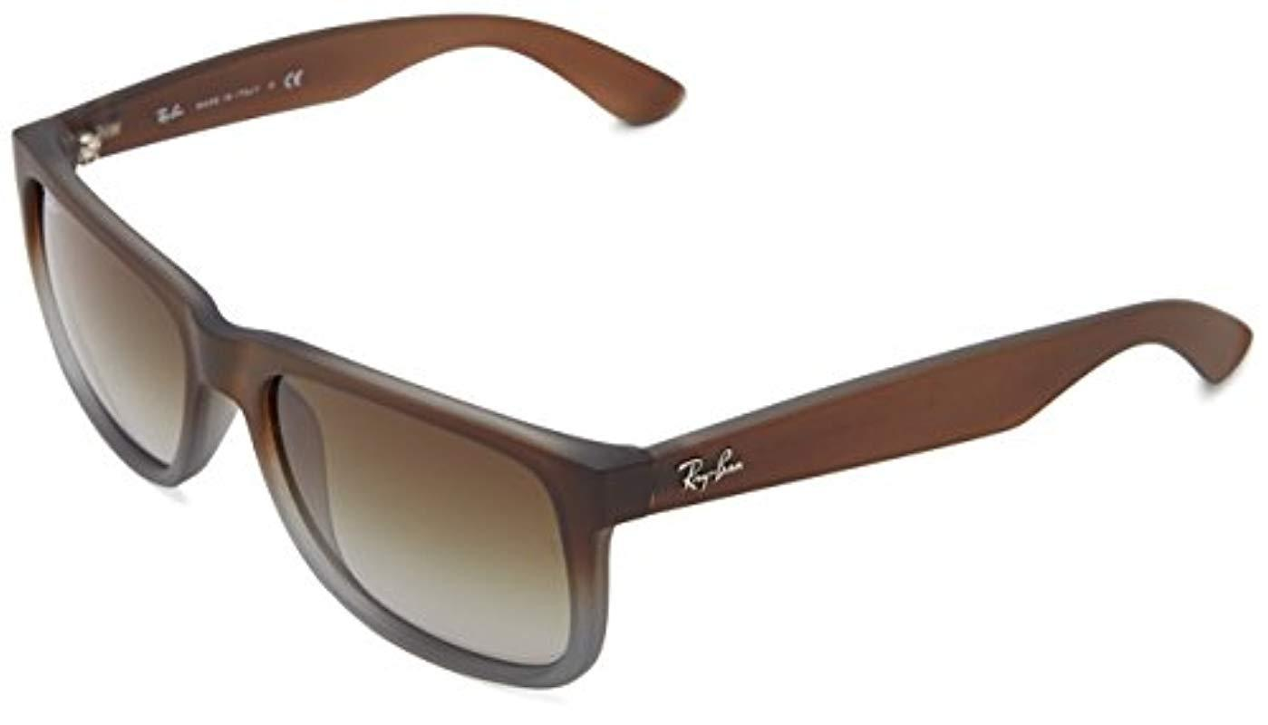 0cb5e38e6a8 australia raybanjustinoferta ffb62 14513  clearance lyst ray ban ray ban  justin rb4165 classic sunglasses in brown for 9bc8b a061c