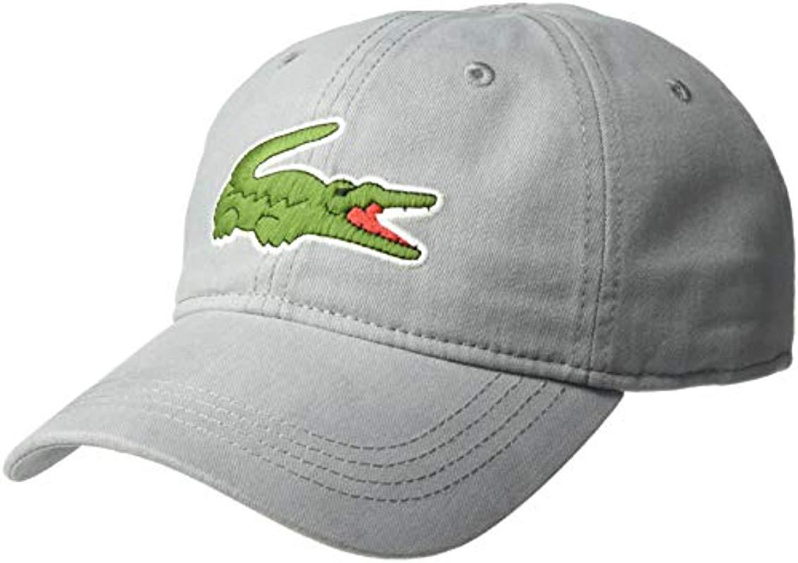 0fe87be41a4c65 Lyst - Lacoste S Big Croc' Gabardine Cap for Men - Save 3%