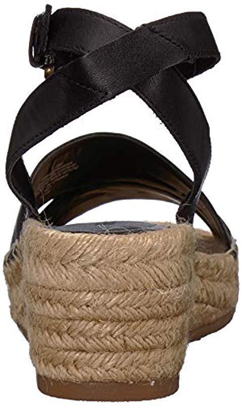 70aa0bcbfca Nine West - Black Edwisha Leather Wedge Sandal - Lyst. View fullscreen