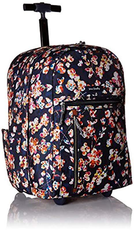 Vera Bradley. Women s Blue Lighten Up Large Rolling Backpack ... c3f07f425a452