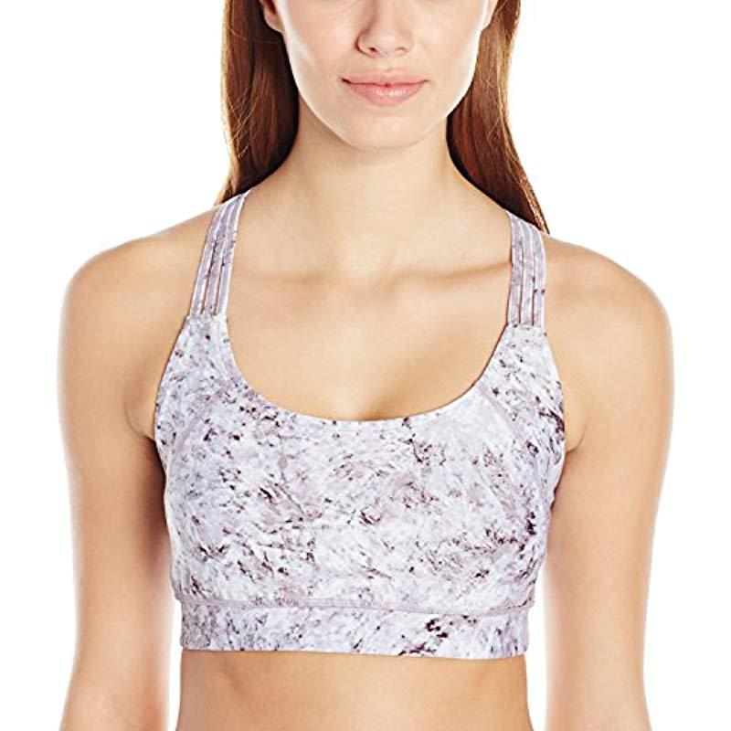 9b2500ad16840b Calvin Klein. Women s Performance Shimmer Print Basketweave Bra With Removable  Cups