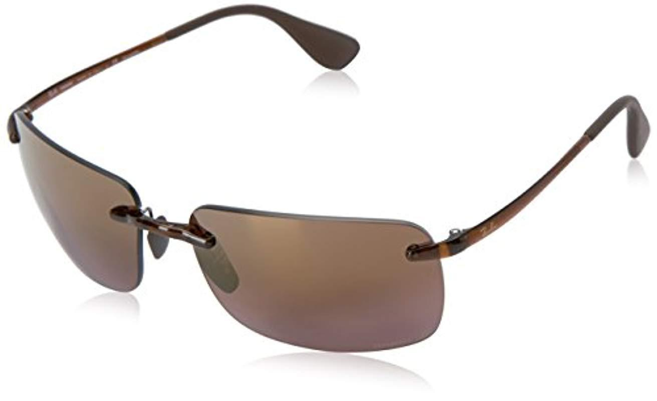 6ac0f748ff Lyst - Ray-Ban Rb4255 Chromance Lens Navigator Sunglasses in Brown ...