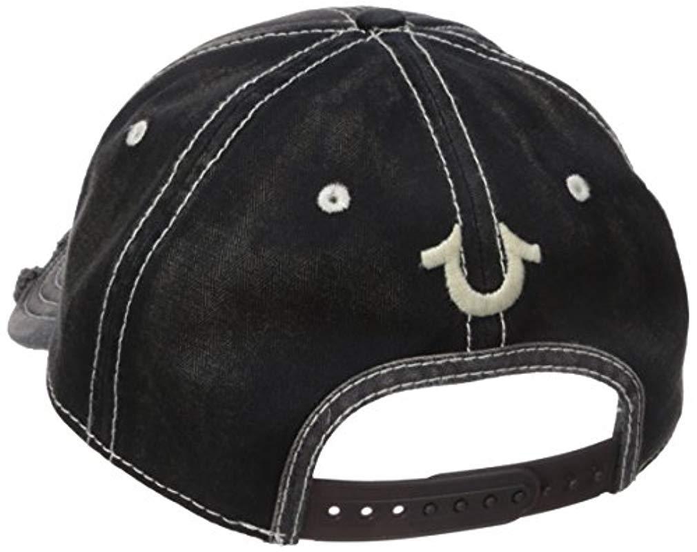True Religion - Black Denim   Goods Baseball Cap for Men - Lyst. View  fullscreen 7c8d11a5d2e4