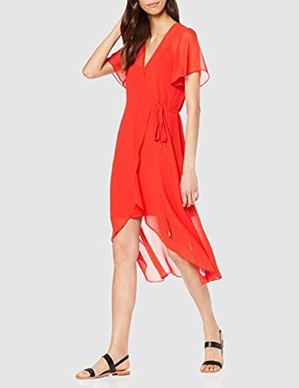 401e4ab7308d Tommy Hilfiger Tjw Wrap Dress in Red - Lyst