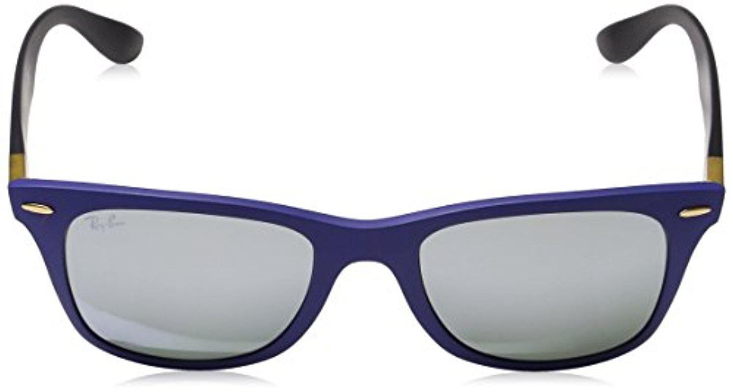 c06b82d5e ... coupon ray ban blue wayfarer liteforce 0rb4195 wayfarer sunglasses  lyst. view fullscreen 621b5 c540b