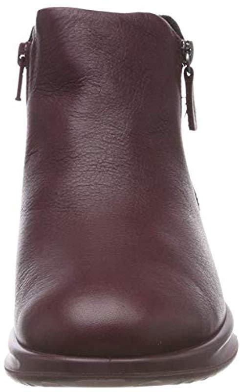 Ecco Fleece Aquet Ankle Boots - Lyst