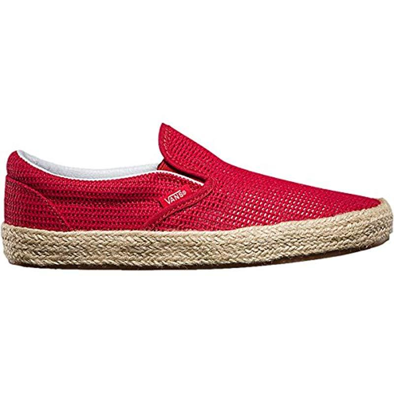 Vans Synthetic Classic Slip-on Espadrille, Unisex Adults' Low-top ...