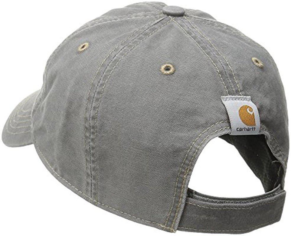 Carhartt Wip Backley Cap Noir Strapback en Toile Coton Baseball Hat