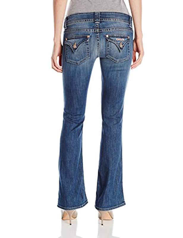 Hudson Jeans Denim Jeans Signature Petite Bootcut Flap Pocket Jean in Blue