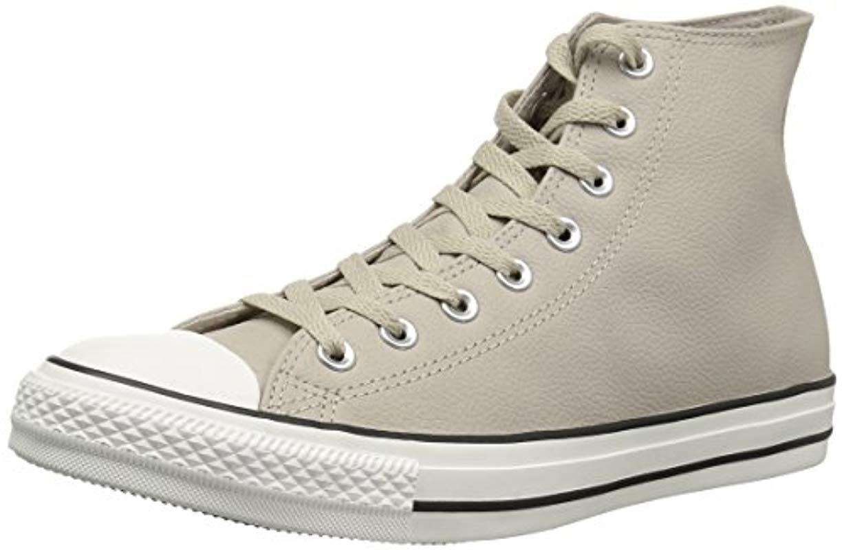 d7005aef67ab Lyst - Converse Chuck Taylor All Star Tumbled Leather High Top ...