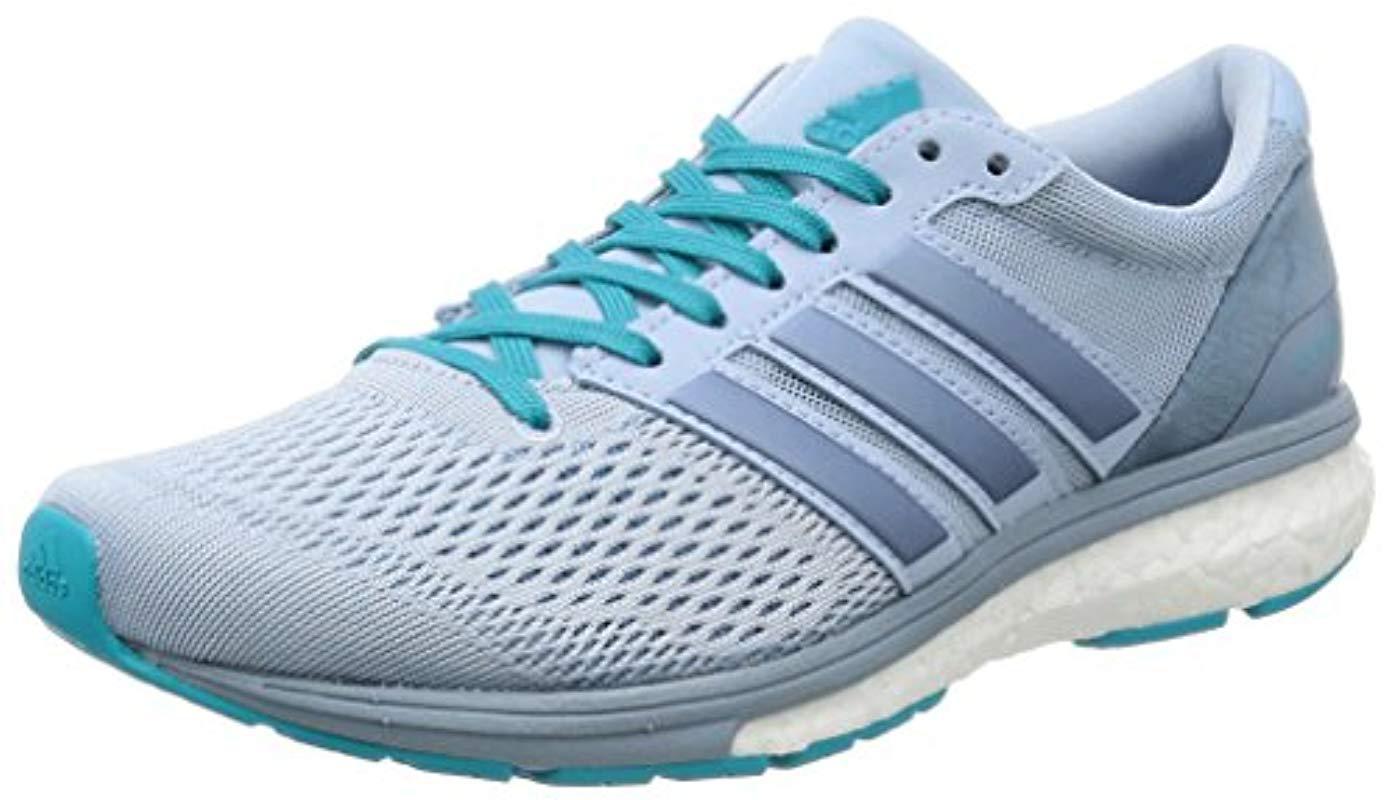 31027728f44e adidas Adizero Boston 6 W Running Shoes in Blue - Lyst