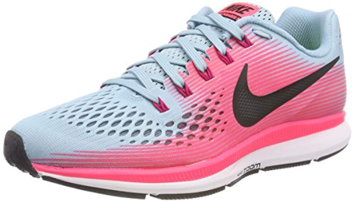 5cf91be047b Nike  s W Air Zoom Pegasus 34 (w) Running Shoes in Pink - Lyst
