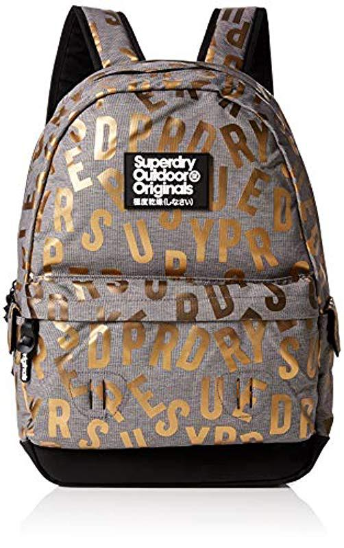57ddc2d7dd9 Superdry Print Edition Montana Backpack in Gray - Lyst