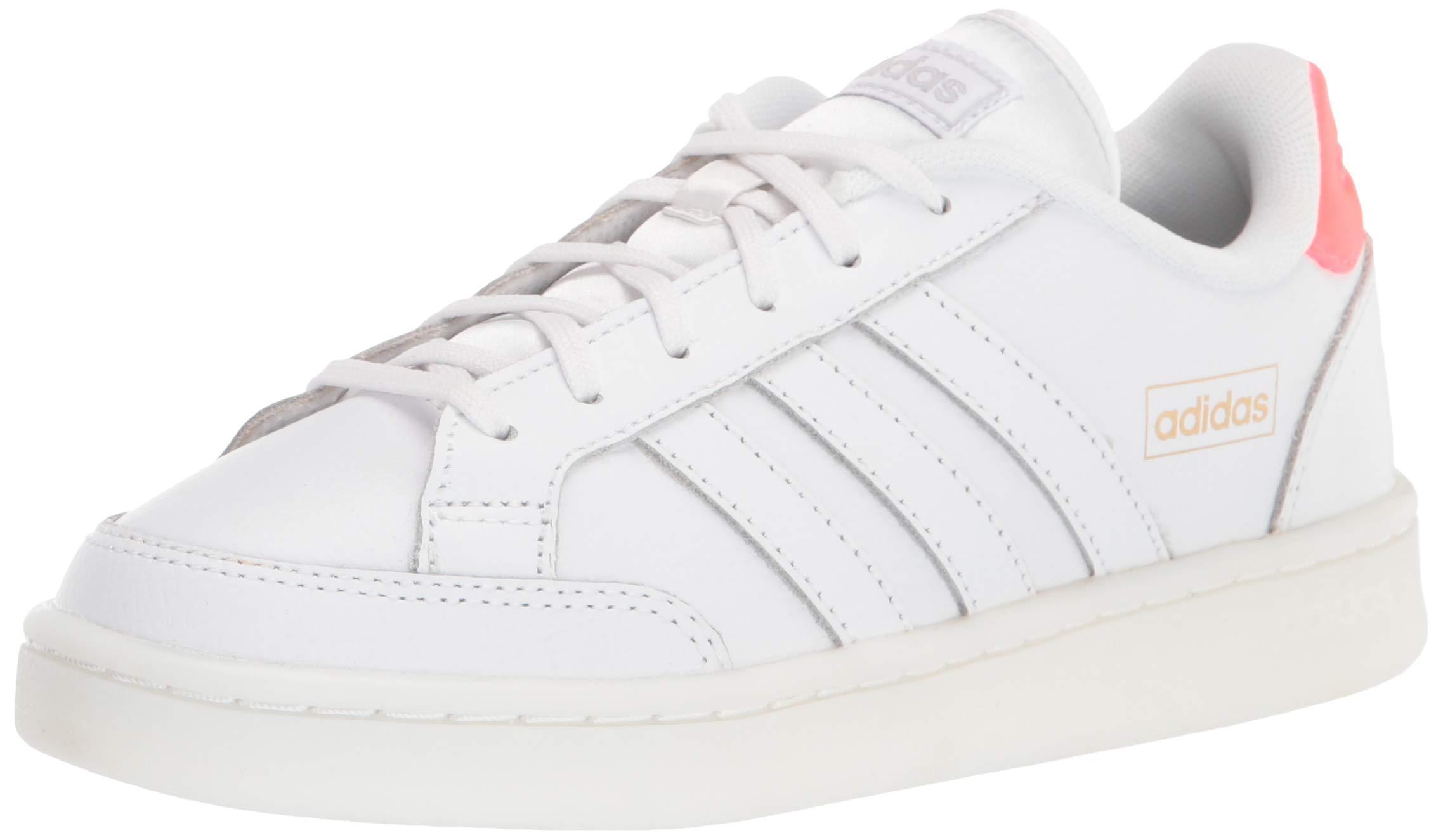 adidas Grand Court Se Tennis Shoe in White/White/Gold Metallic ...