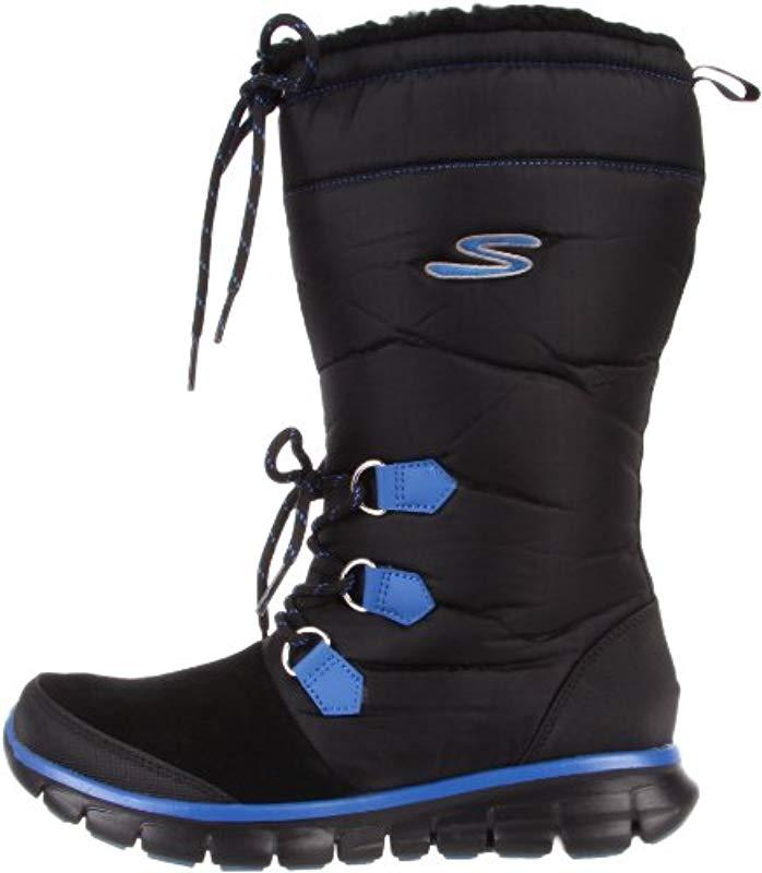 Skechers Usa Synergy-flexers Knee-high Boot in Black