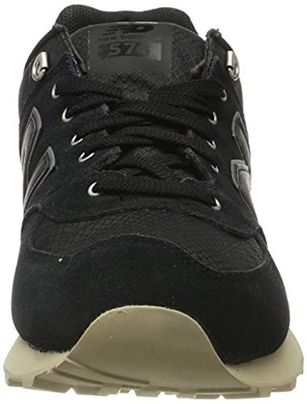 New Balance 574v1 Sneaker in Black/Sand (Black) for Men - Lyst