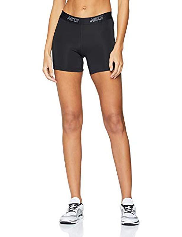 88a0408d531d W Nk 5in Vcty Pantalones Cortos Deportivos, Mujer de color negro