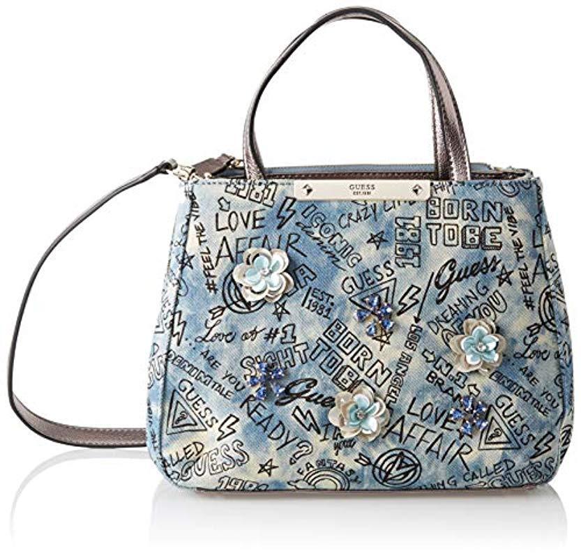 30d8421b59 Guess - Blue Britta Top-handle Bag - Lyst. View fullscreen