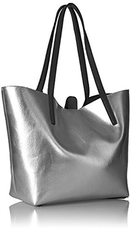 Calvin Klein Black Unlined Novelty Chemtech Tote