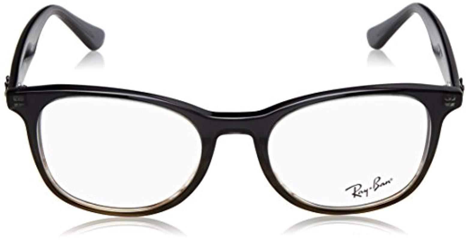 0c4497d07a Ray-Ban - Gray Rx5356 5766 52 Glasses In Grey On Striped Brown Rx5356 5766.  View fullscreen