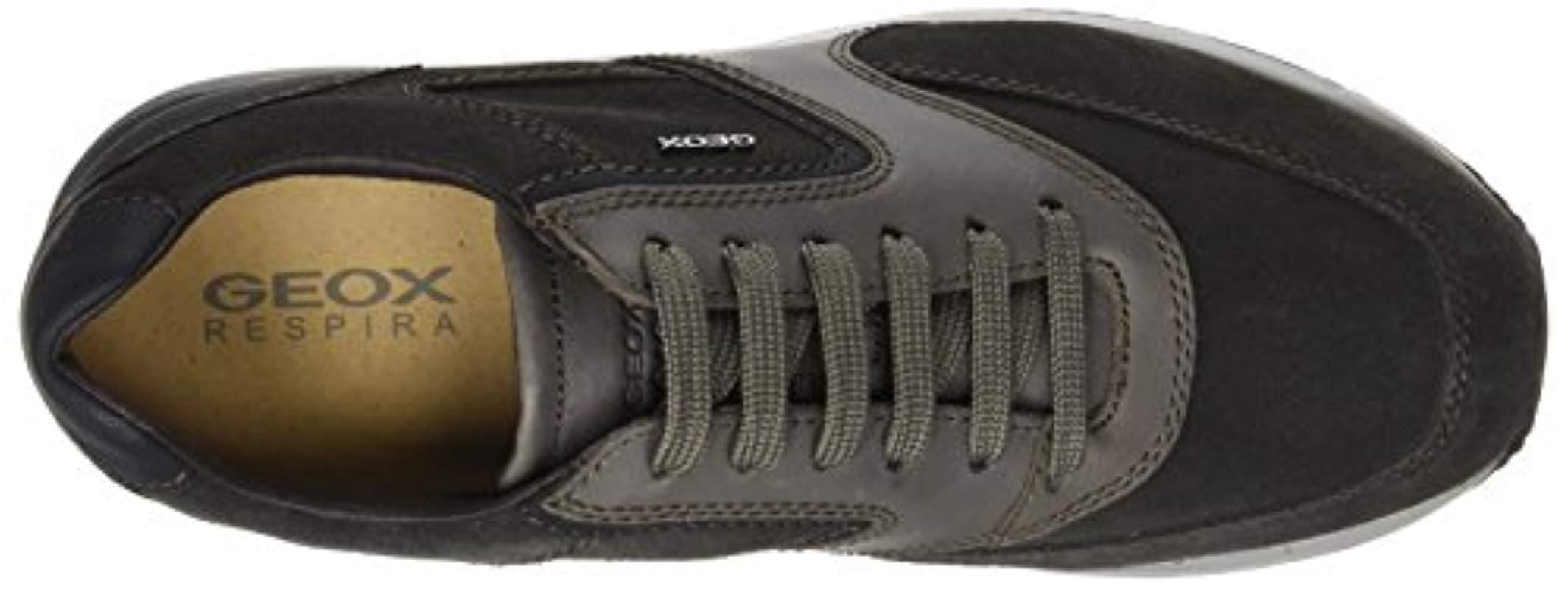 U Dennie A, Zapatillas para Hombre Geox de Cuero de color Negro para hombre