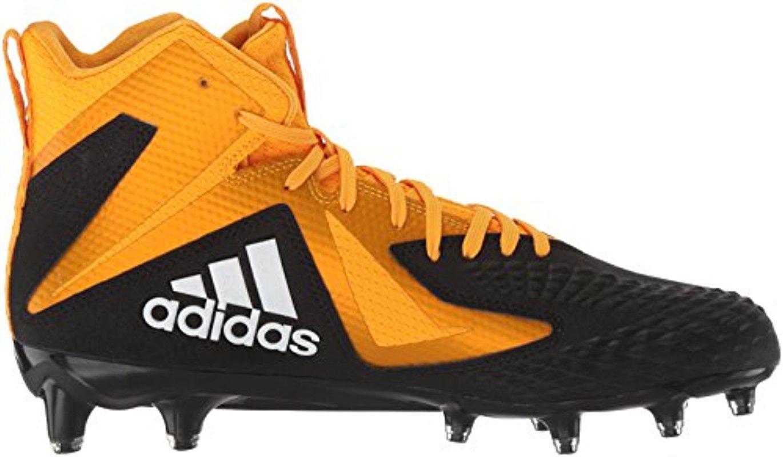 Core Black White Gold Adidas Mens Freak X Carbon Mid Football Shoe 17 M Us