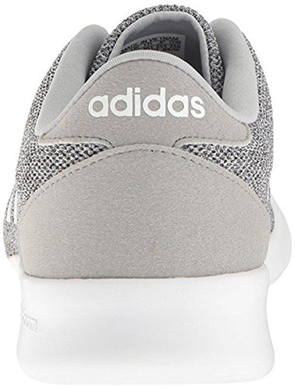 lyst adidas cloudfoam qt racer w scarpa da corsa, onix / bianco