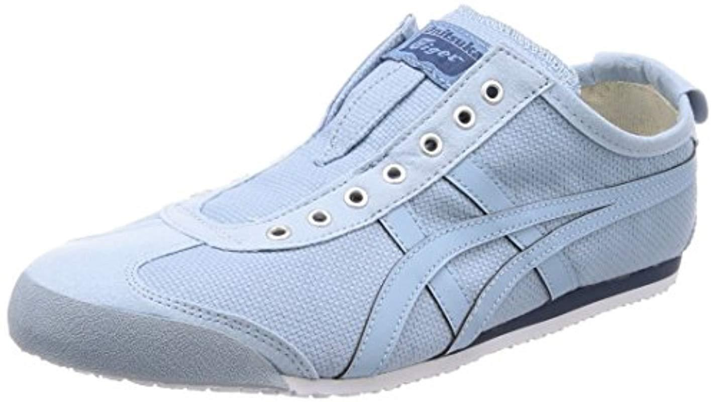 25ffdb0dbb8ff Asics Blue Unisex Adults' Onitsuka Tiger Mexico 66 Slip-on Low-top Sneakers