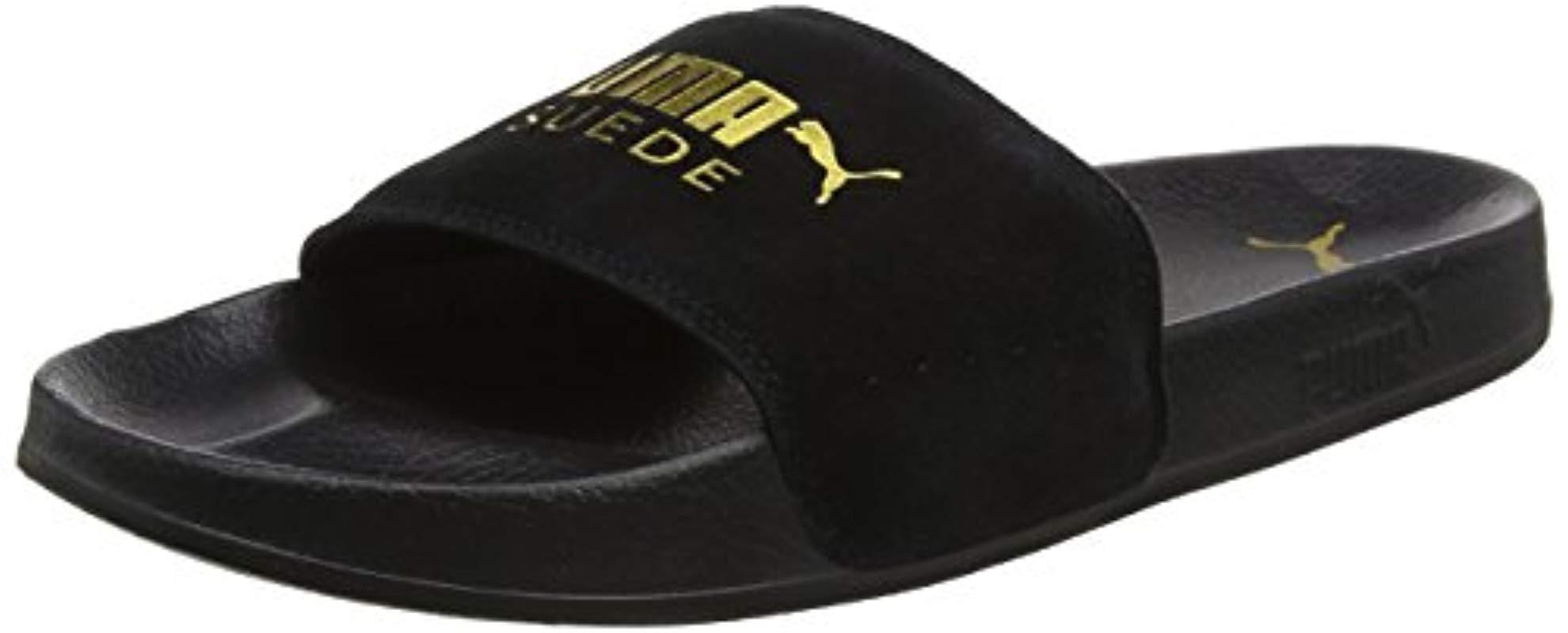 644b71e154b8bb Puma Unisex Adults' Leadcat Suede Beach & Pool Shoes Black in Black ...