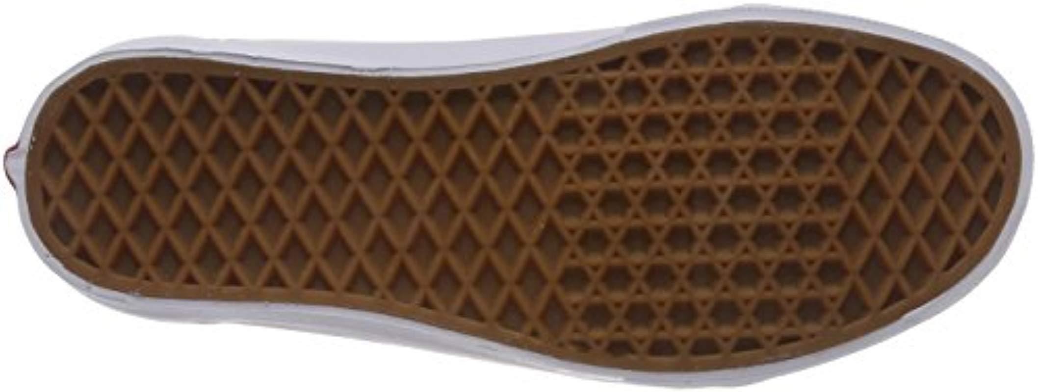 Old Skool, Zapatillas de Skateboarding para Mujer Vans de Cuero de color Blanco