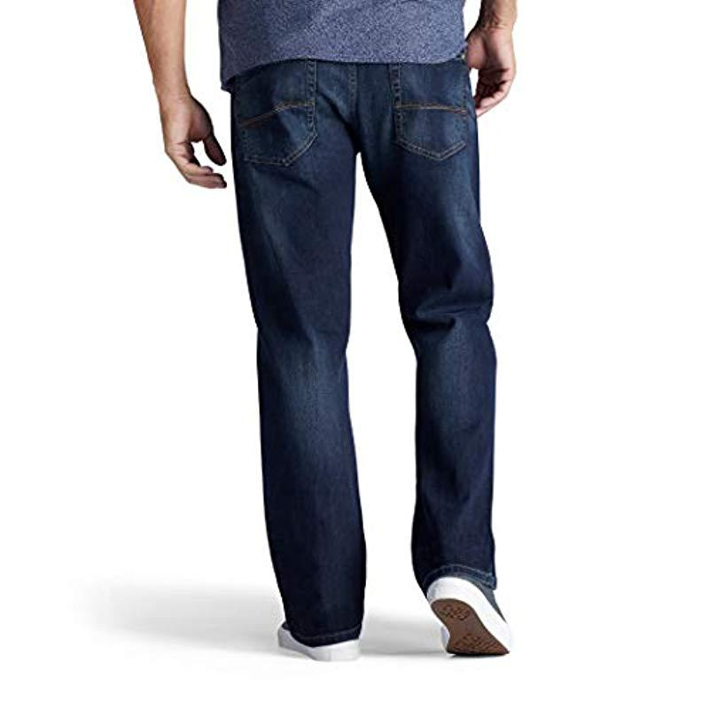 LEE Daren Slim Fit Tapered Jeans New Men/'s Faded Storm Grey Straight Leg Denim