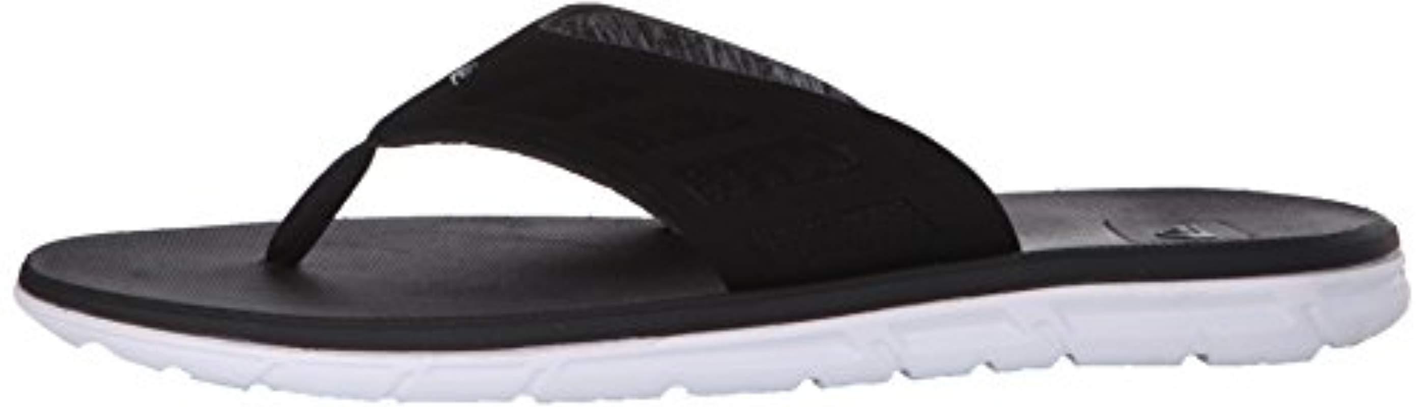 Quiksilver Synthetic Ag47 Flux Flip Flops in Black/White/Grey (Black) for Men