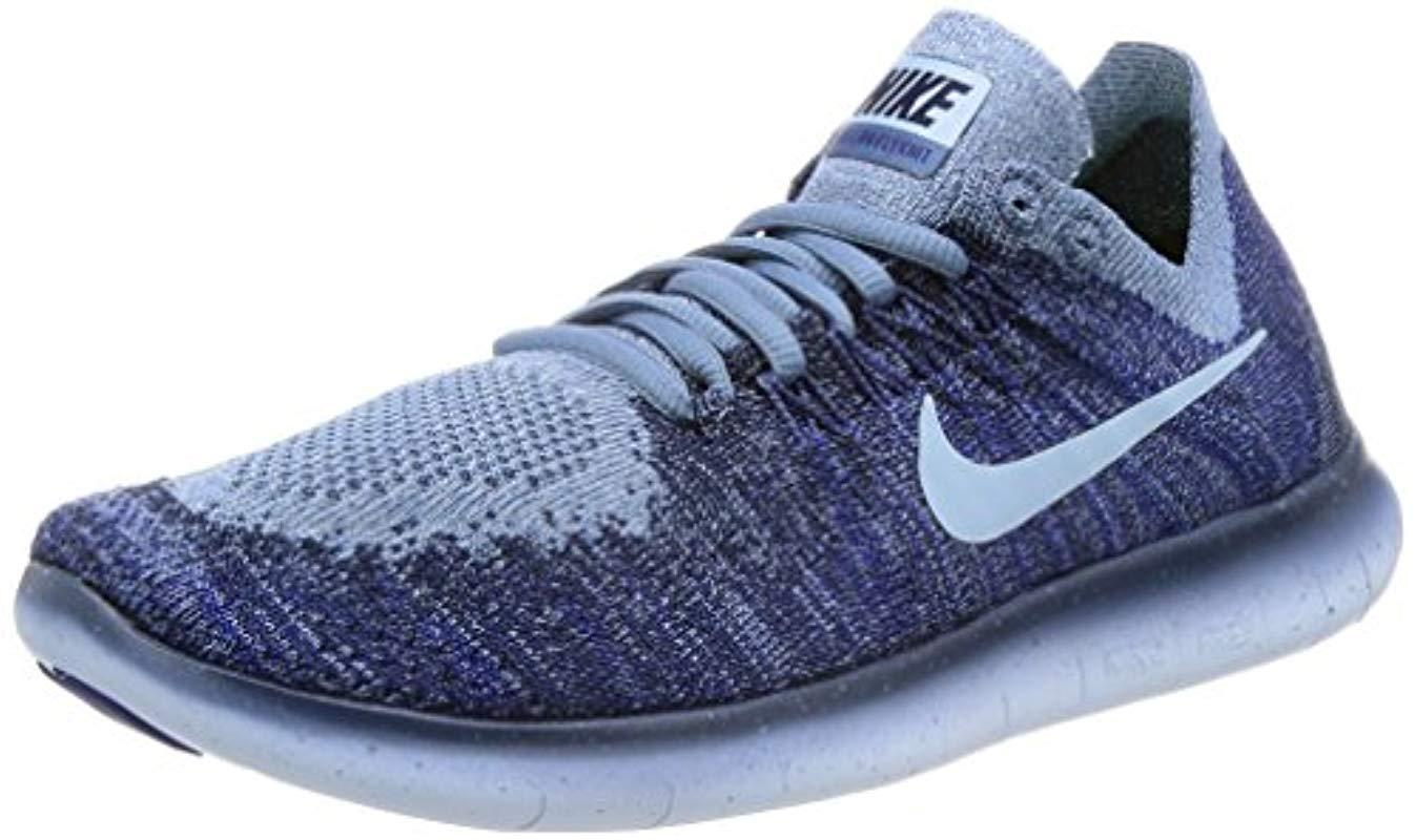 8e1fb5c7cfaf Nike  s Free Run Flyknit 2017 Training Shoes in Blue - Lyst