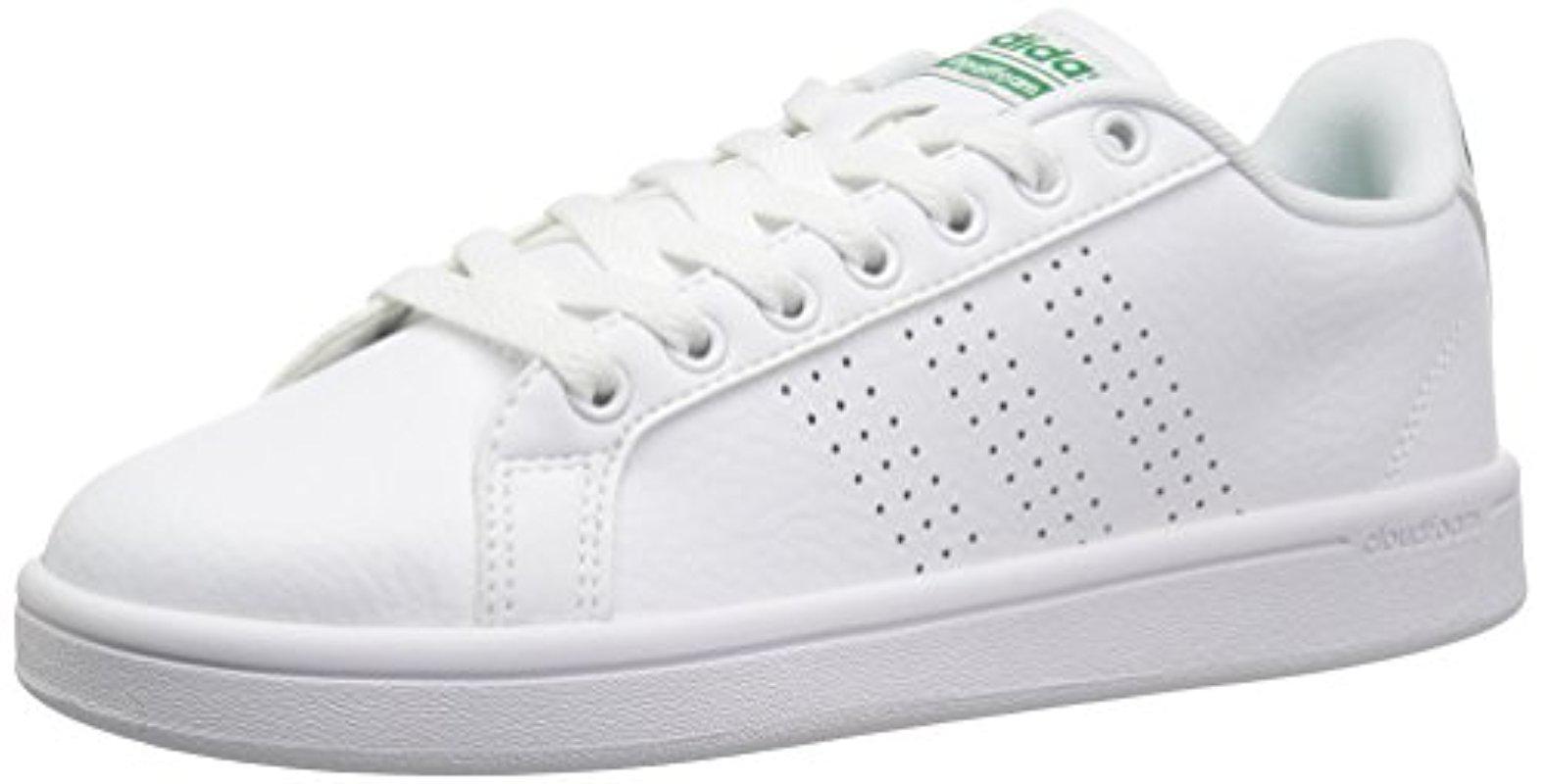 lyst adidas cloudfoam pulito le scarpe da ginnastica in vantaggio per gli uomini bianchi