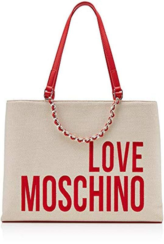 8c2be3dfccc Love Moschino - Multicolor Canvas Tote - Lyst. View fullscreen