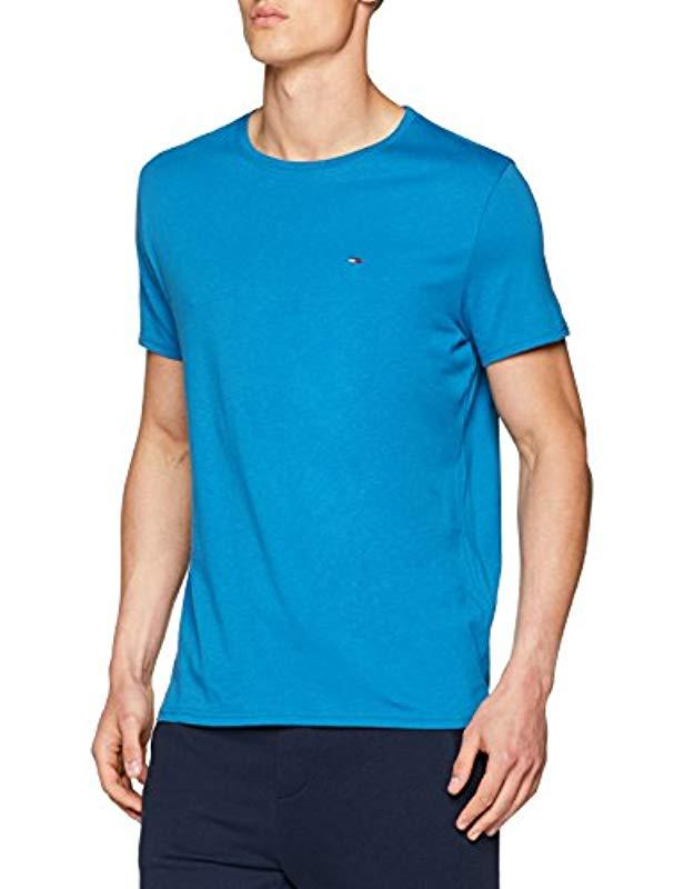 69f9561c Tommy Hilfiger Essential Solid Crew Neck Vest in Blue for Men - Lyst