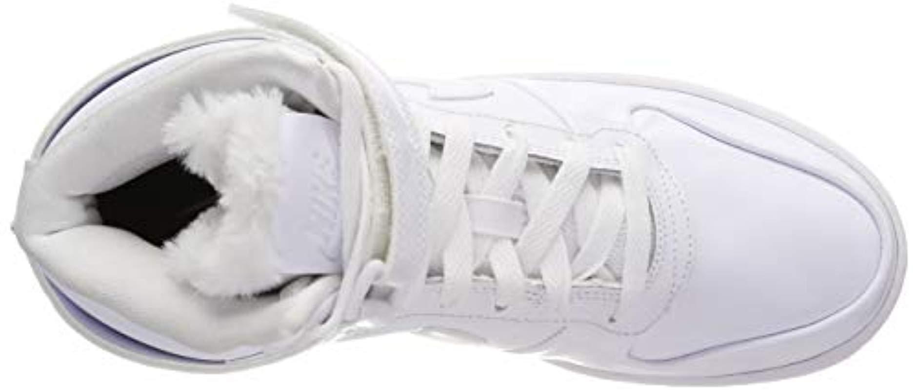 hot sale online 5b1b4 ee1b9 Nike - White Damen Sneaker Ebernon Mid Premium Hi-top Trainers - Lyst. View  fullscreen