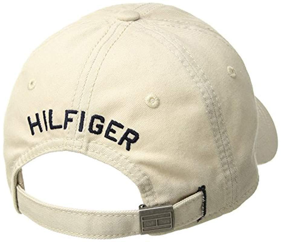 Tommy Hilfiger Men/'s Dad Hat Billy Corner Flag Army Camo Baseball Cap 6945218