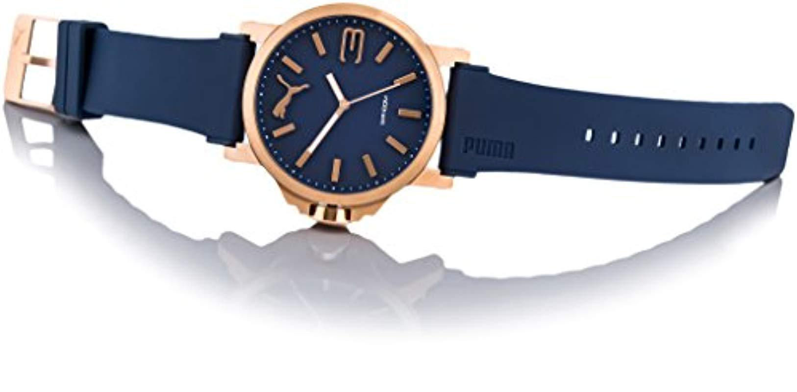 PUMA - Blue Reloj Analógico para Hombre de Cuarzo con Correa en Plástico  PU103461021 for Men. Ver en pantalla completa a60a951a4c4f