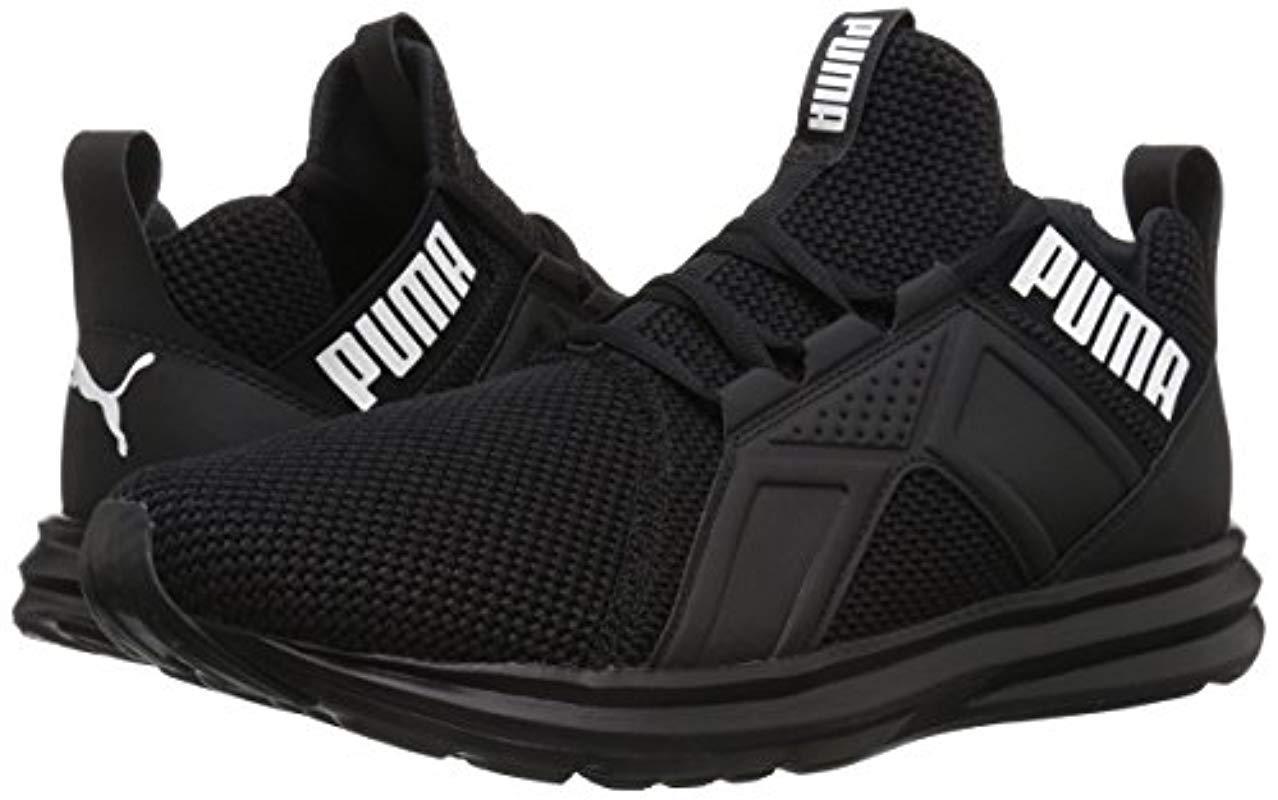PUMA Enzo Weave Sneaker in Black/White