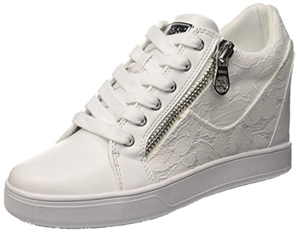 81e29dd0c4f Guess   s Footwear Active Lady Trainers in White - Lyst