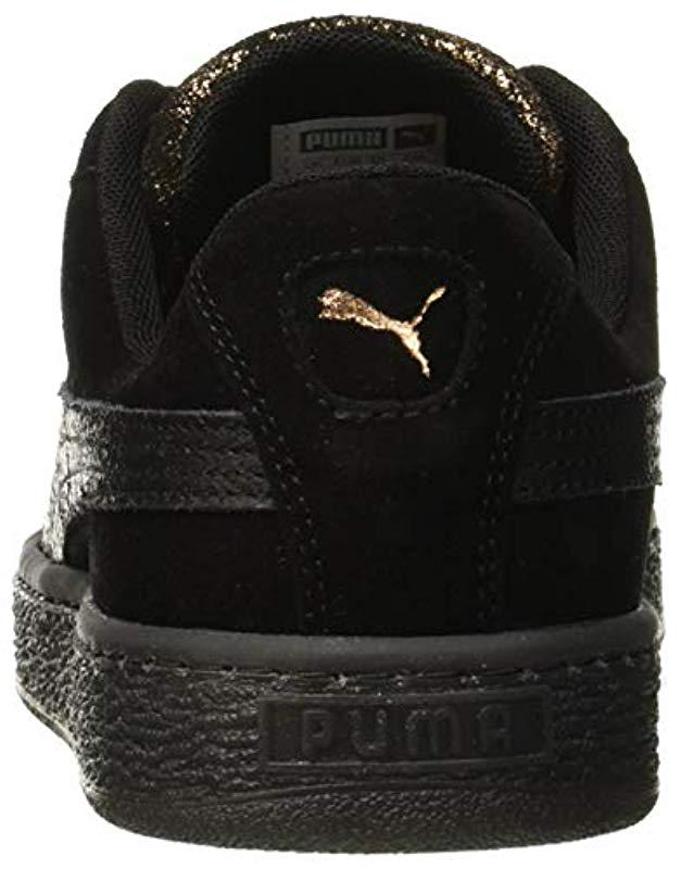 Artica Top Wn's Puma Low Suede Lyst In Heart Sneakers Black SwRqwXE
