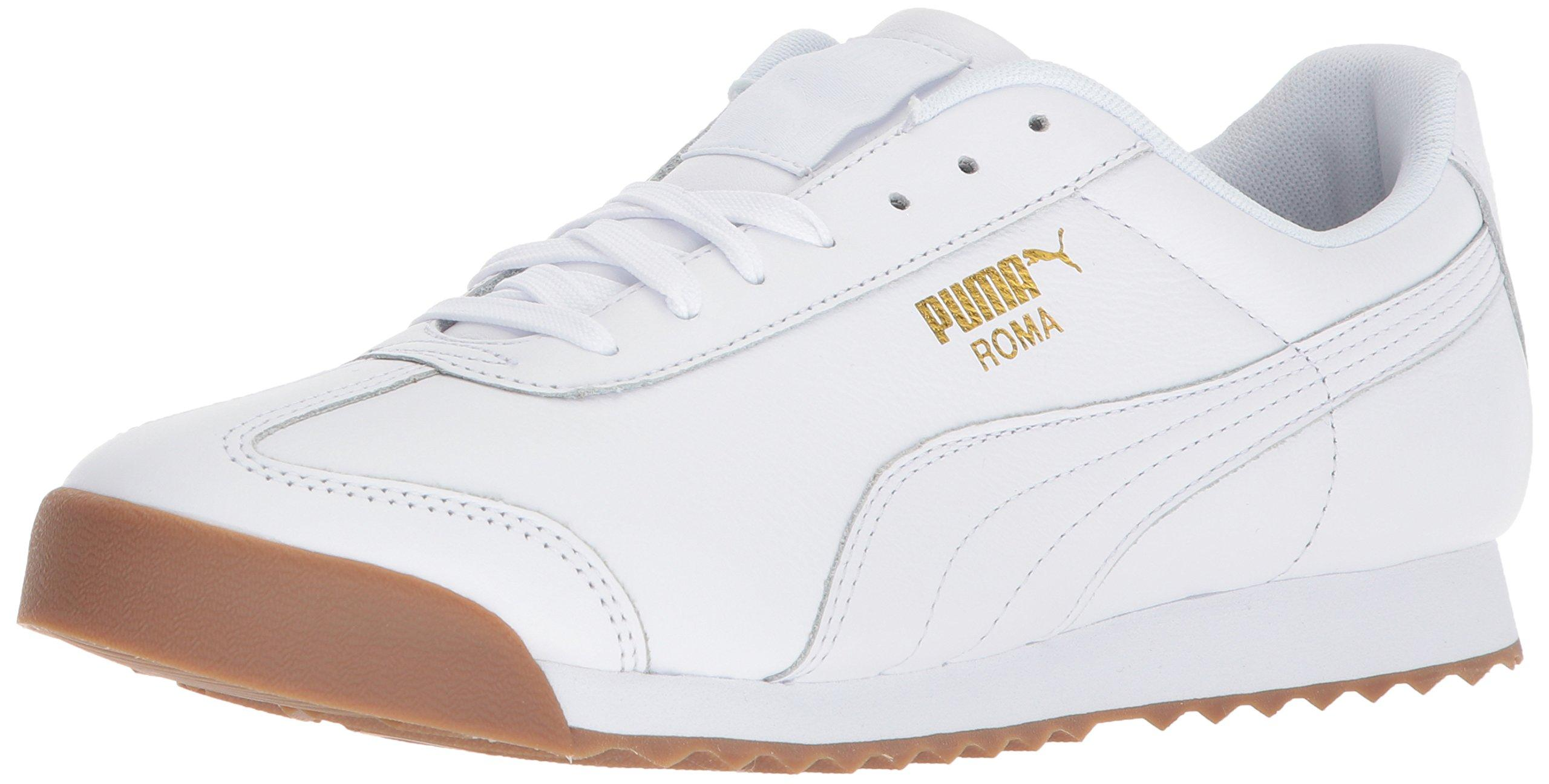 PUMA Leather Roma Classic Gum in White
