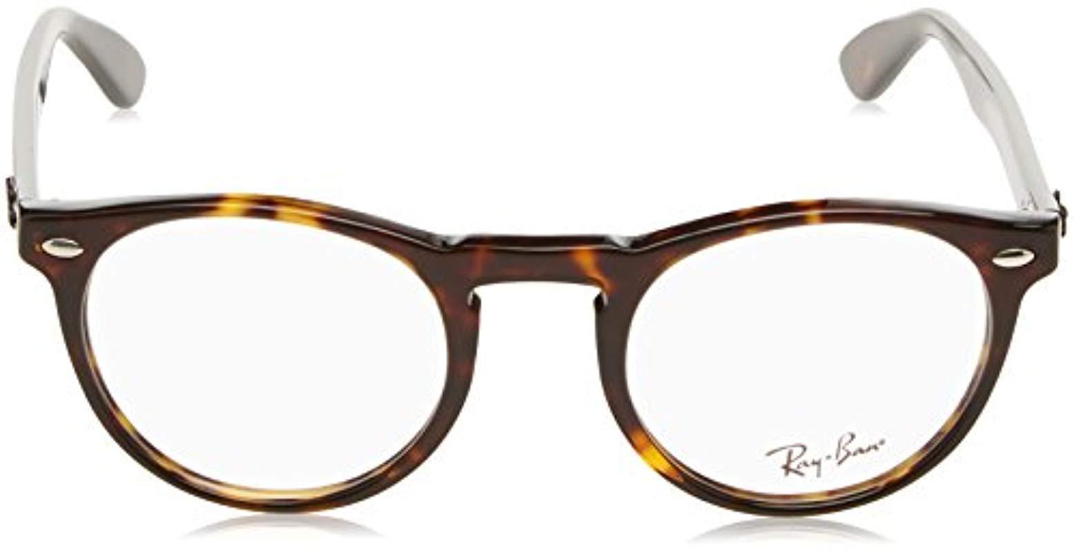 573664480c9 Ray-Ban - Brown Rx5283 Glasses In Dark Havana Rx5283 2012 49 - Lyst. View  fullscreen