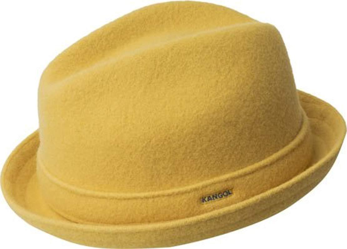 6959b87aa Kangol Yellow Wool Player Cap for men