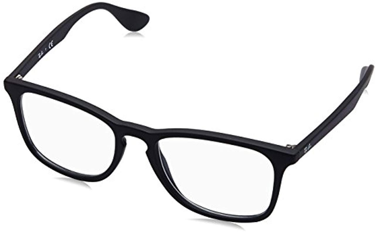b1e08db05a Ray-Ban Rx7074 Glasses In Black Rubber Rx7074 5364 52 in Black ...