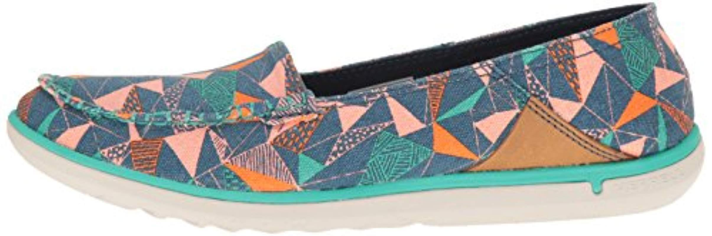 Merrell Canvas Duskair Moc Print Fashion Sneaker in Blue