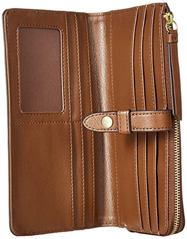 Fossil Fiona Tab Leather Wallet