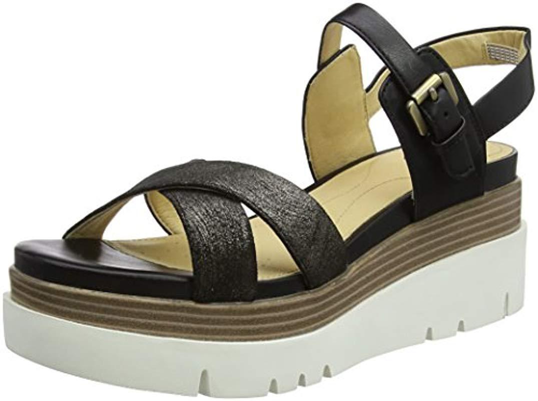 249fed1be9f8 Geox D Radwa C Flatform Sandals in Black - Lyst