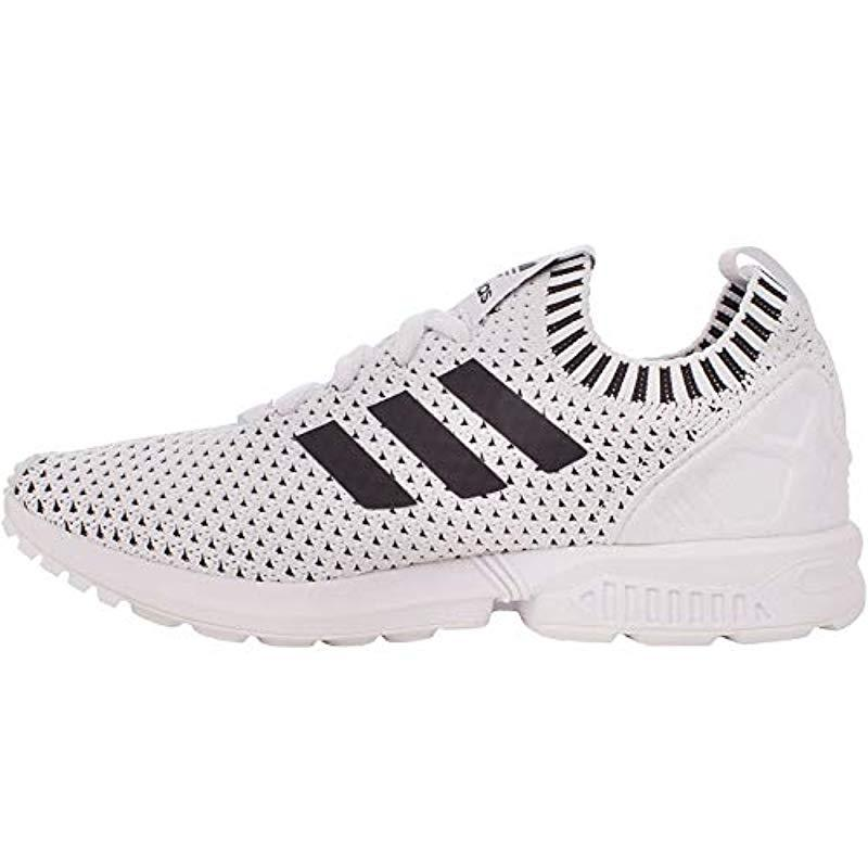adidas 's Zx Flux Primeknit Trainers in White for Men